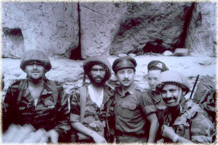 Israeli soldiers in jubilant mod at the site  of the premises of  the old Holy Temples of the Lord God.