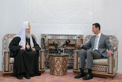 Russian Orthodox Church head meets Syria President Assad