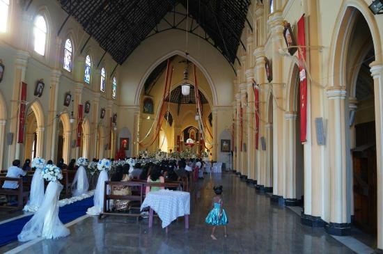 Interior  of the st. mery's  church in Negombo, Sri Lanka.