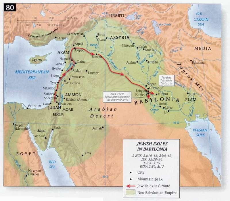 Jews were taken away through this route to Babylon from Judea.